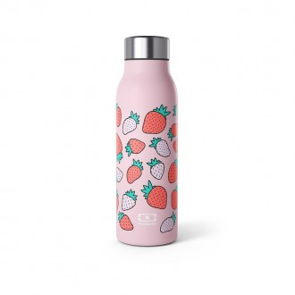 Bouteille Isotherme Sport 360ml -MB Genius Strawberry - My Eco House 74 - Boutique zéro déchet