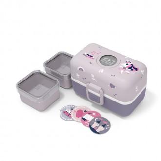 Bento des enfants - MB Tresor Violet Licorne - Boutique zéro déchet 74 - My Eco House