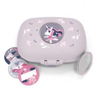 La boite à goûter des enfants - MB Gram Violet Licorne - Boutique zéro déchet 74 - My eco House