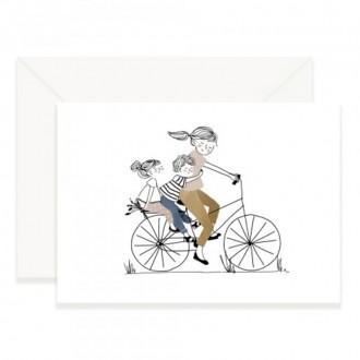 Carte Balade à vélo fille et garçon - Boutique zéro déchet 74 - My eco House