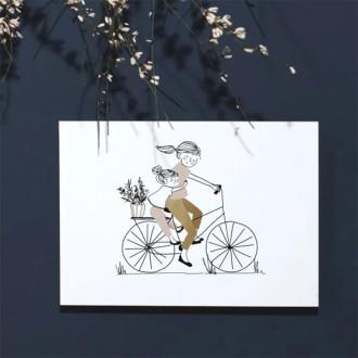 Carte Balade à vélo fille - Boutique zéro déchet 74 - My eco House