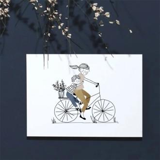 Carte Balade à vélo garçon - Boutique zéro déchet 74 - My eco House