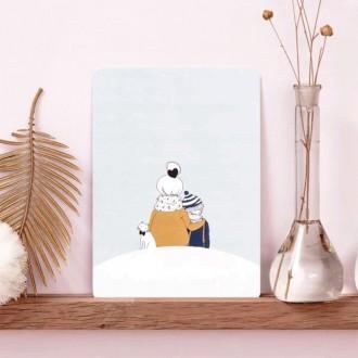 Carte Sous la neige garçon - Boutique zéro déchet 74 - My eco House