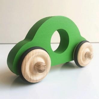 Petite voiture Anatole en bois - Vert