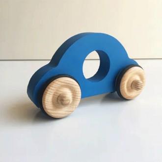 Petite voiture Anatole en bois - Bleu - Boutique zéro déchet 74 - My Eco House