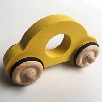 Petite voiture Anatole en bois - Jaune - Boutique zéro déchet 74 - My Eco House