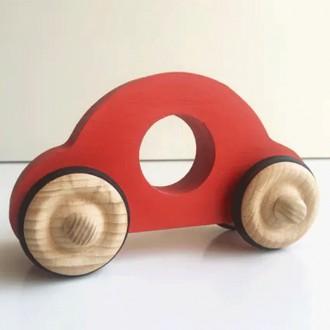 Petite voiture Anatole en bois - Rouge