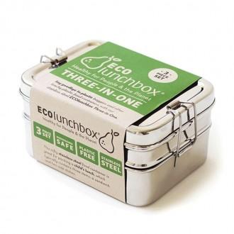 Lunch box 3 pièces - 880Ml - Boutique zéro déchet 74 - My eco house
