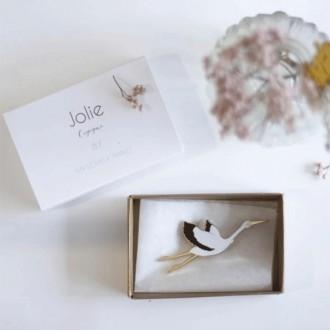 Broche Jolie Cigogne - Boutique zéro déchet 74 - My Eco House