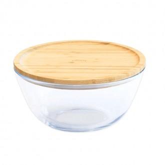 Bol à mixer rond en verre et bambou - Boutique zéro déchet 74 - My eco House
