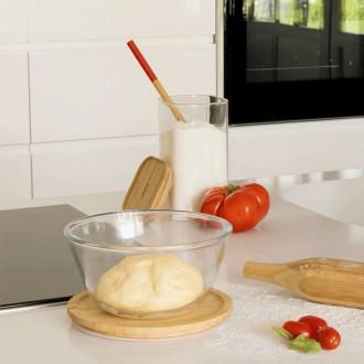 set 3 Bosl à mixer rond en verre et bambou - Boutique zéro déchet 74 - My eco House