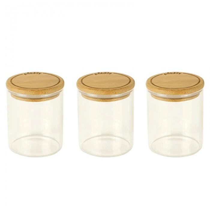 Set 3 pots 190 ml en verre et bambou - Boutique zéro déchet 74 - My eco House