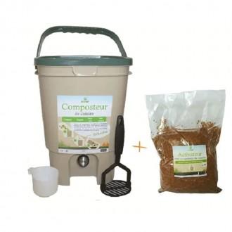 Composteur de cuisine BOKASHI 20L avec Activateur - Boutique zéro déchet , épicerie Vrac My Eco House 74