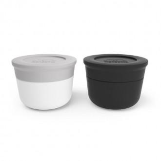 Récipients à sauce - MB Temple taille S - gris coton et noir - Boutique zéro déchet - Épicerie Vrac - My Eco House 74