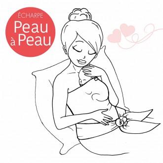 Echarpe Peau à peau - Perle-Boutique zéro déchet 74 - Épicerie Vrac My Eco House