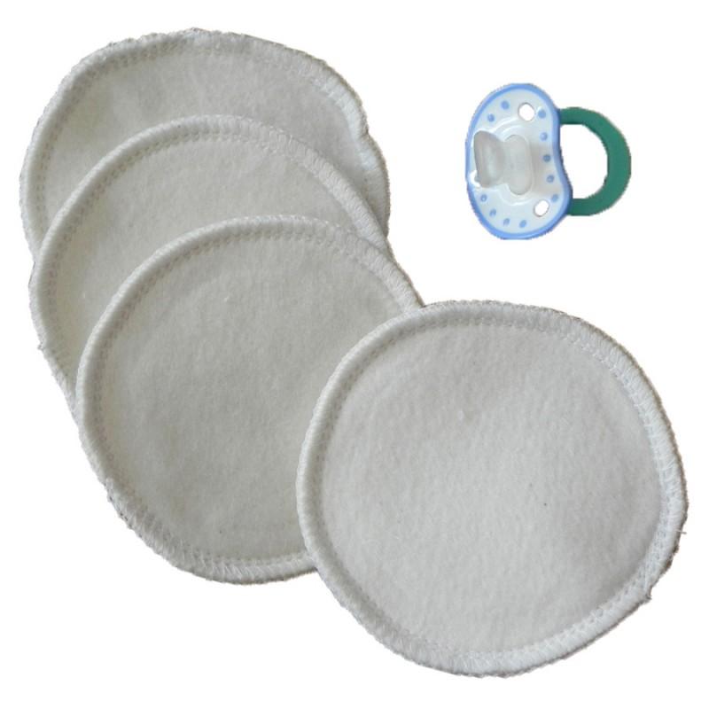 Lot de 4 coussinets d'allaitements lavable