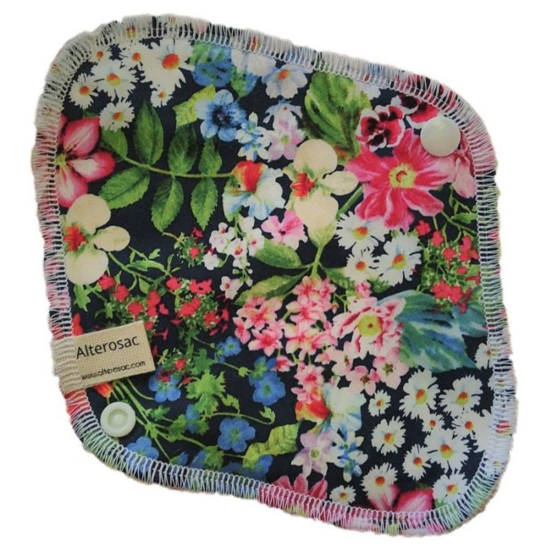 Protège slip lavable - grandes fleurs