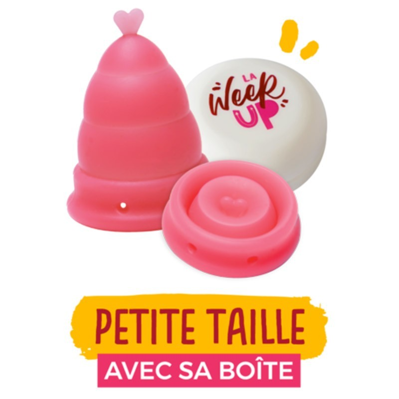 Cup menstruelle piliable Rose - La Week'Up - My Eco House
