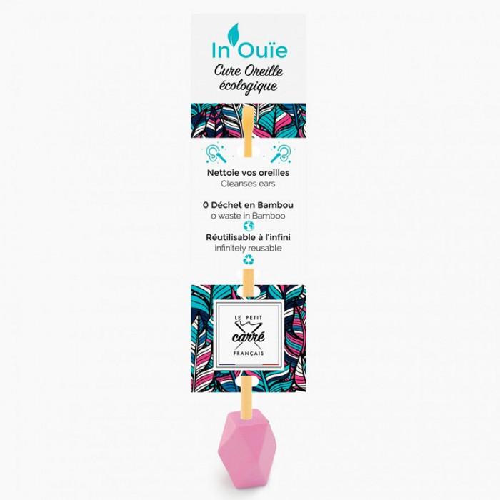 """Cure oreille """"IN'OUIE"""" réutilisable - rose - Le petit carre Francais - My Eco House"""