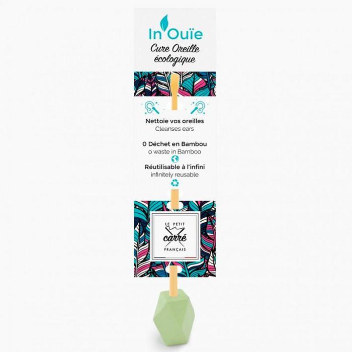 """Cure oreille """"IN'OUIE"""" réutilisable - vert - Le petit carre Francais - My Eco House"""