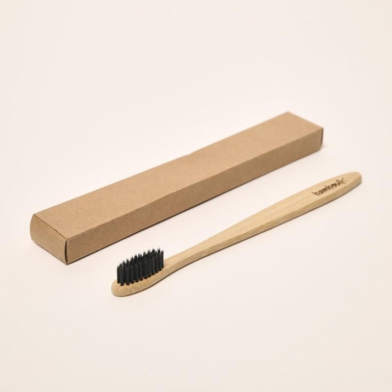 Brosse à dents en bambou - Poils noirs (charbon) - My Eco House